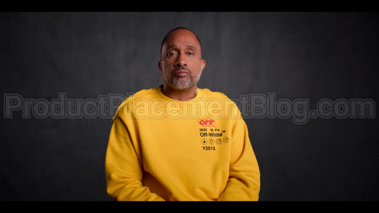 Off-White Yellow Sweatshirt of Kenya Barris in #blackAF S01E04 (1)