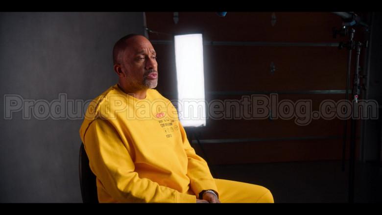 Off-White Yellow Sweatshirt of Kenya Barris in #blackAF S01E04 (3)