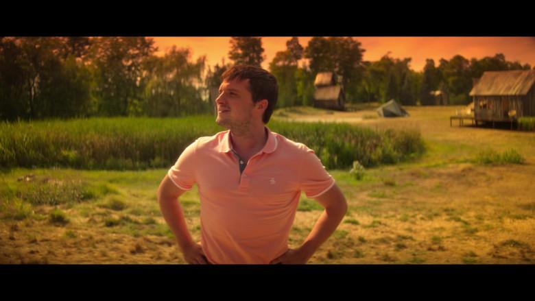 Original Penguin Pink Polo Shirt Worn by Josh Hutcherson as Josh Futturman in Future Man S03E07 (2)