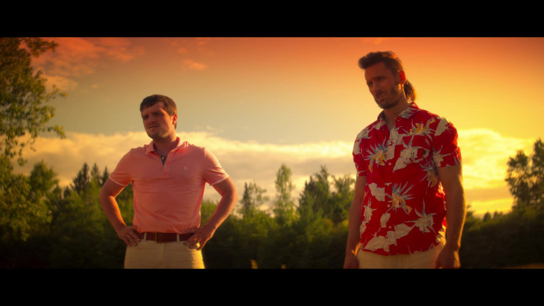 Original Penguin Pink Polo Shirt Worn by Josh Hutcherson as Josh Futturman in Future Man S03E07 (4)