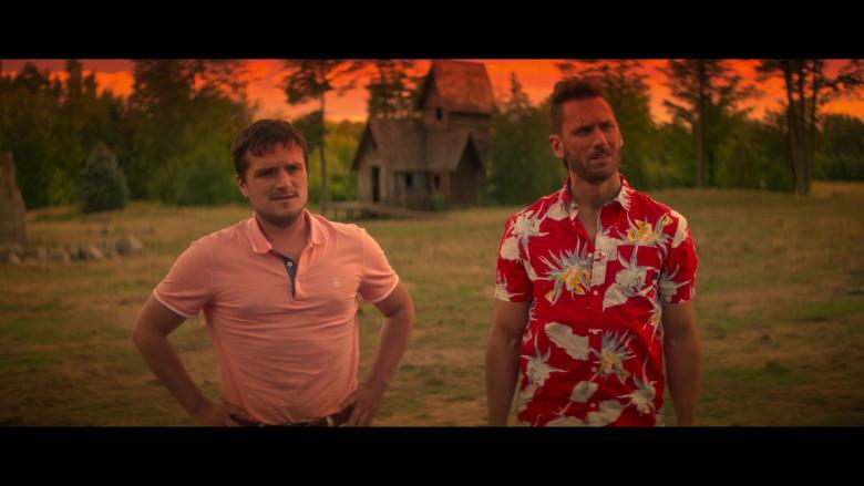 Original Penguin Pink Polo Shirt Worn by Josh Hutcherson as Josh Futturman in Future Man S03E07 (5)
