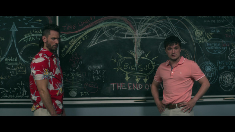 Original Penguin Shirt of Josh Hutcherson in Future Man S03E08 (3)