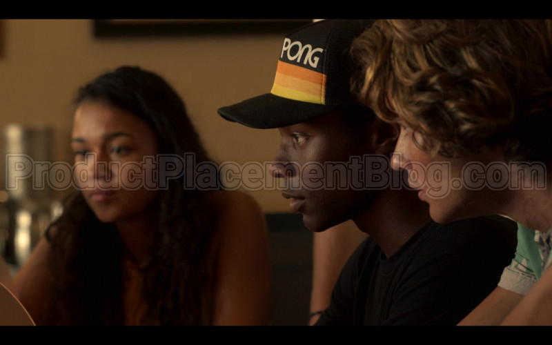 PONG Atari Men's Vintage Style Retro Snapback Hat Worn by Jonathan Daviss as Pope in Outer Banks S01E03 (1)