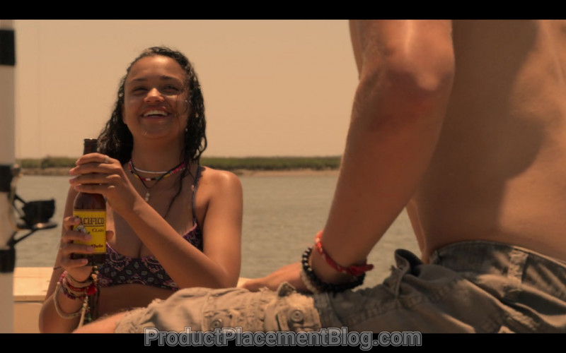 Pacifico Beer Enjoyed by Madison Bailey as Kiara in Outer Banks TV Show