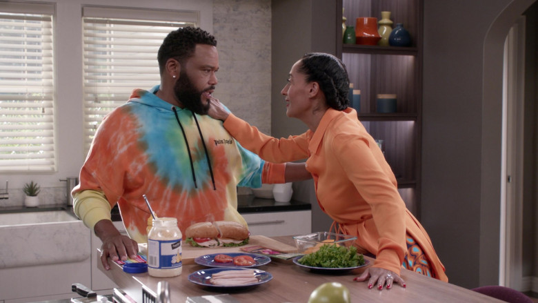 Palm Angels Logo Cotton Hoodie of Anthony Anderson in Black-ish S06E20 (4)