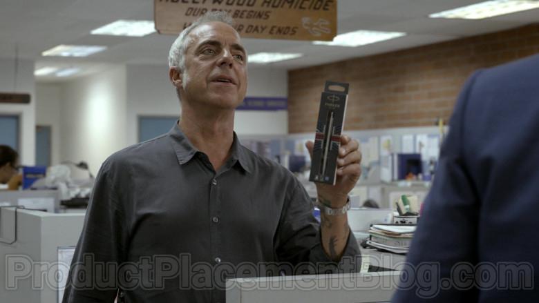 Parker Pen Held by Titus Welliver in Bosch S06E05 Money, Honey (2020)