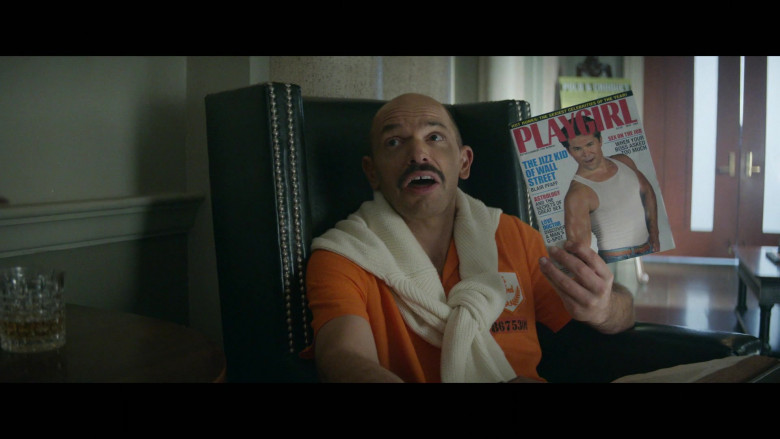 Playgirl Magazine Held by Paul Scheer as Keith Shankar in Black Monday S02E05