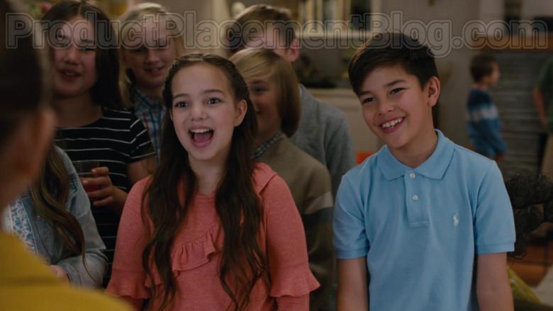 Polo Ralph Lauren Boys Blue Shirt in American Housewife S04E18 (1)