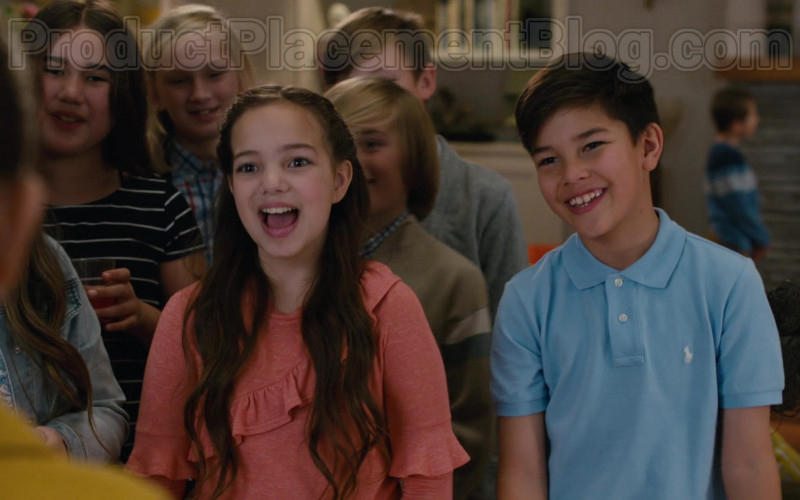 Polo Ralph Lauren Boys Blue Shirt in American Housewife S04E18 (1)