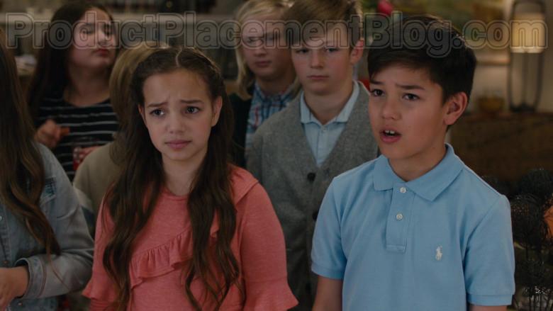 Polo Ralph Lauren Boys Blue Shirt in American Housewife S04E18 (2)