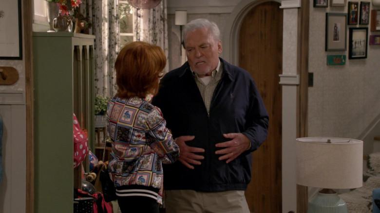 Ralph Lauren Blue Jacket of Stacy Keach as Joe Burns in Man with a Plan S04E02 (1)