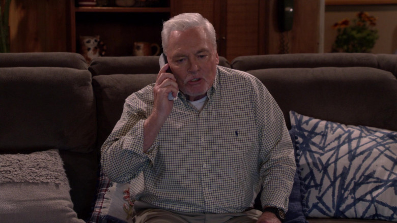 Ralph Lauren Shirt Worn by Stacy Keach as Joe Burns in Man with a Plan S04E02