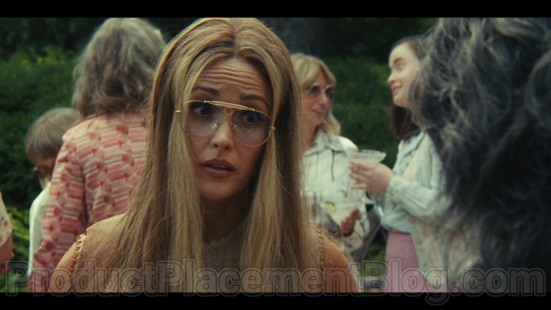 Ray-Ban Shooter Aviator Glasses of Rose Byrne as Gloria Steinem in Mrs. America TV Show (2)