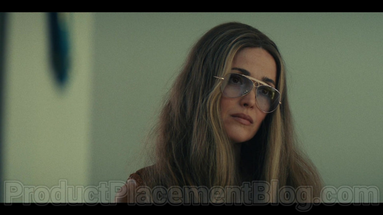Ray-Ban Shooter Aviator Glasses of Rose Byrne as Gloria Steinem in Mrs. America TV Show (4)