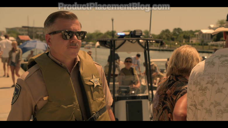 Ray-Ban Sunglasses of Cullen Moss as Deputy Victor Shoupe in Outer Banks S01E01 Pilot (1)