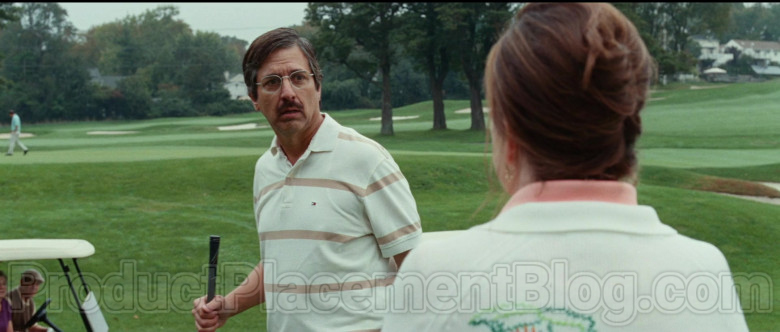 Ray Romano Wearing Tommy Hilfiger Striped Short Sleeve Shirt in Bad Education Movie (1)