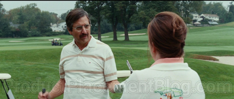 Ray Romano Wearing Tommy Hilfiger Striped Short Sleeve Shirt in Bad Education Movie (2)