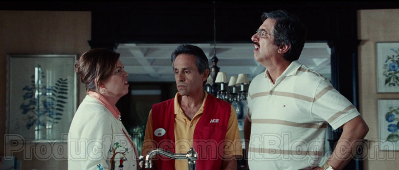 Ray Romano Wearing Tommy Hilfiger Striped Short Sleeve Shirt in Bad Education Movie (3)