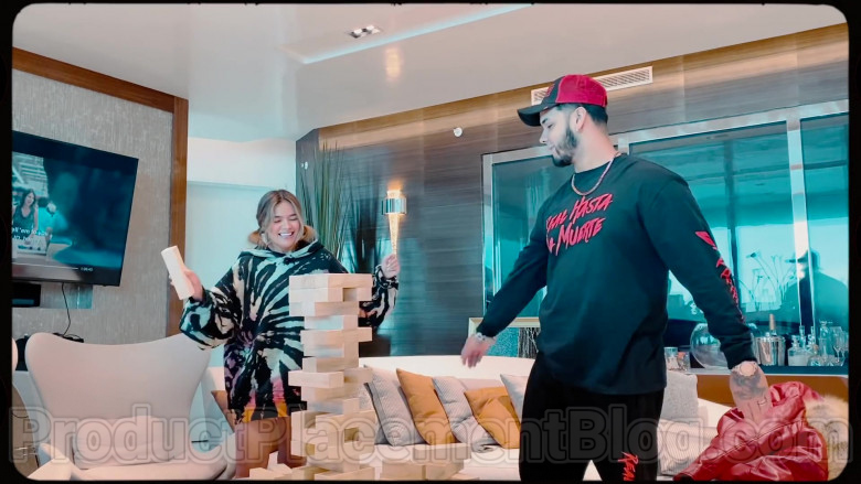Real Hasta La Muerte Sweatshirt Worn by Anuel AA in Follow ft. Karol G (2020)