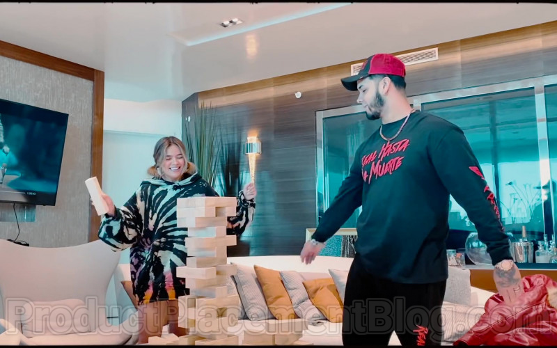 Real Hasta La Muerte Sweatshirt Worn by Anuel AA in Follow ft. Karol G (2020)