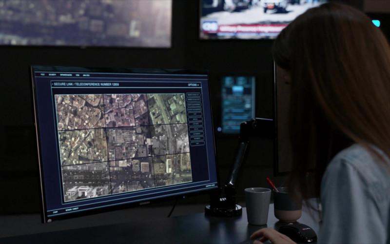 Samsung Monitor in Homeland S08E09