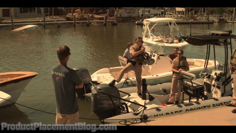Simms Fishing Men's T-Shirt in Outer Banks S01E01 Pilot (2020)