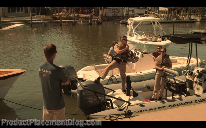 Simms Fishing Men's T-Shirt in Outer Banks S01E01 Pilot (2020)