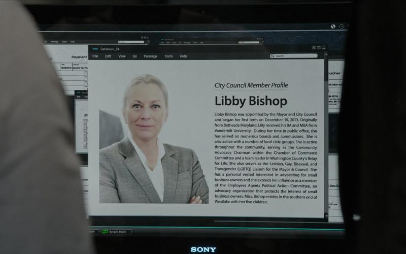 Sony Monitor in The Blacklist S07E13 (3)