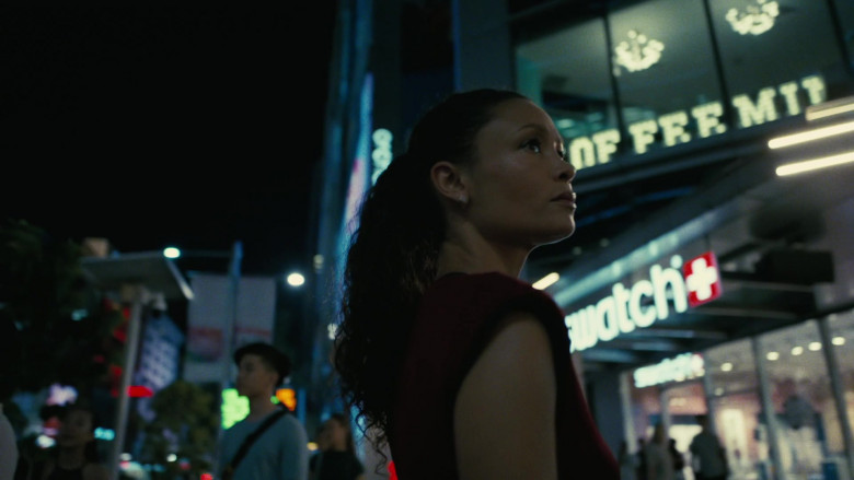 Swatch Store Sign in Westworld S03E04