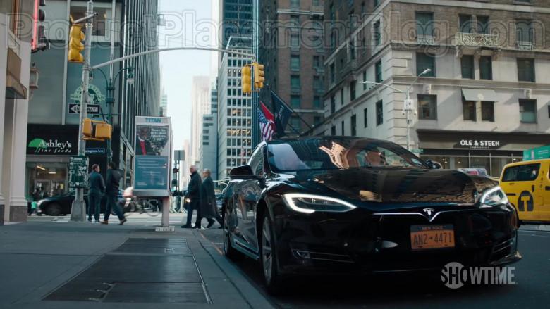 Tesla Black Car in Billions TV Show [Season 5, 2020]