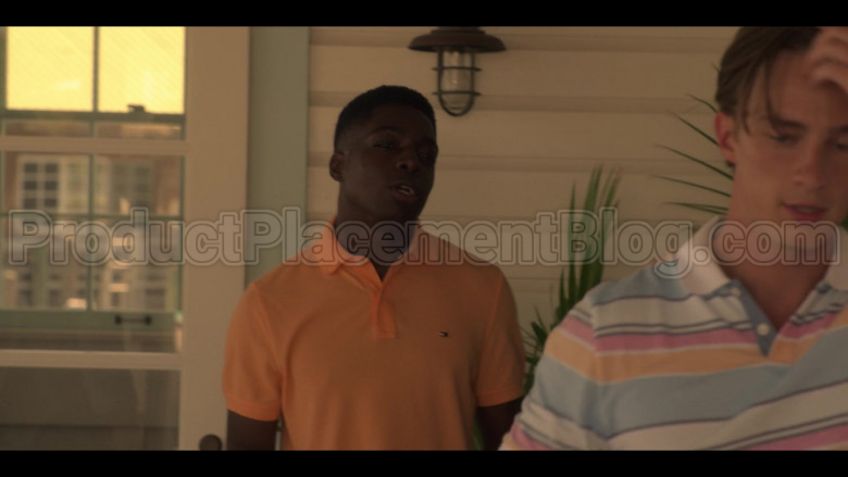 Tommy Hilfiger Orange Polo Shirt For Men in Outer Banks S01E07