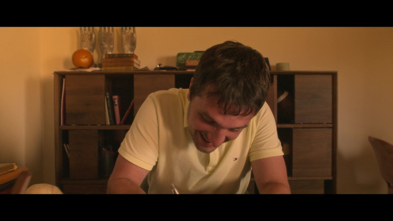 Tommy Hilfiger Yellow Polo Shirt Worn by Josh Hutcherson as Josh Futturman in Future Man S03E06 (2)