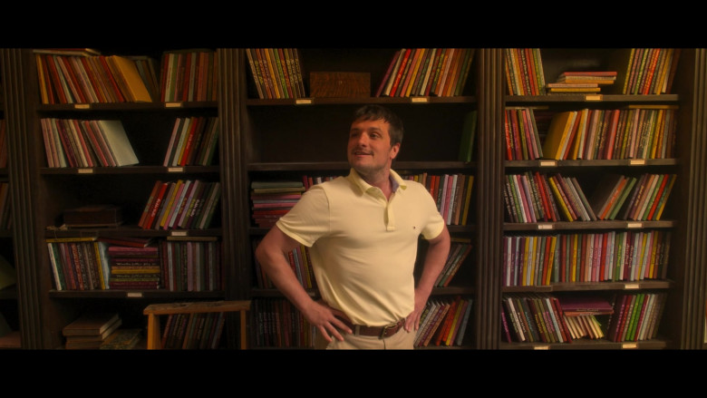 Tommy Hilfiger Yellow Polo Shirt Worn by Josh Hutcherson as Josh Futturman in Future Man S03E06 (3)