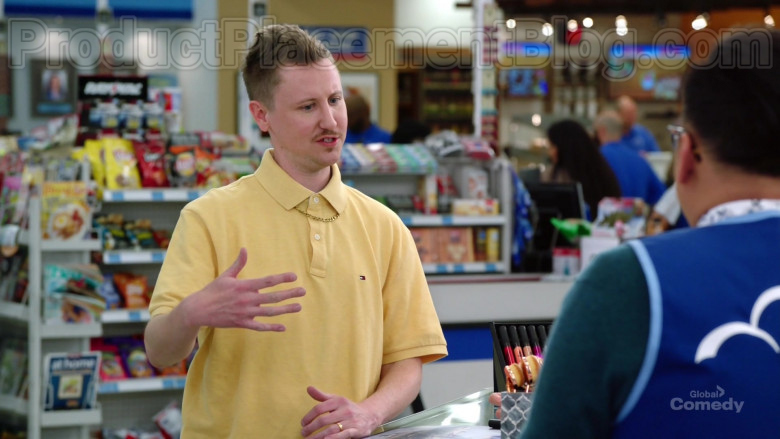 Tommy Hilfiger Yellow Short Sleeve Shirt of Johnny Pemberton as Bo Thompson in Superstore S05E21 (2)