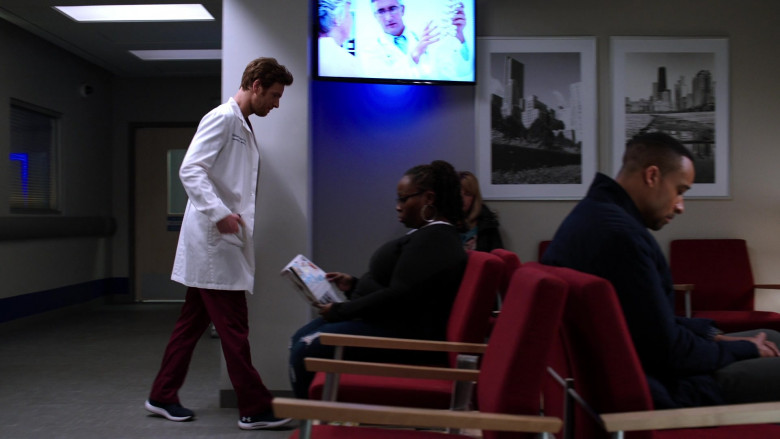 Under Armour Sneakers of Nick Gehlfuss as Dr. Will Halstead in Chicago Med S05E19