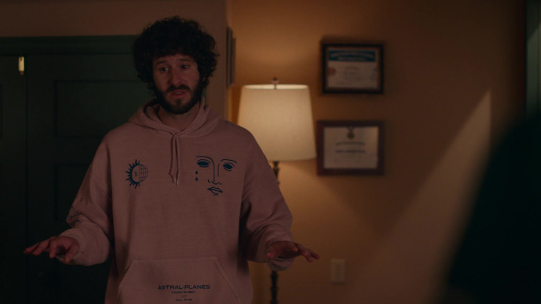 Urban Outfitters Physics Pigment Dye Hoodie Sweatshirt Worn by Lil Dicky in Dave S01E06 (1)
