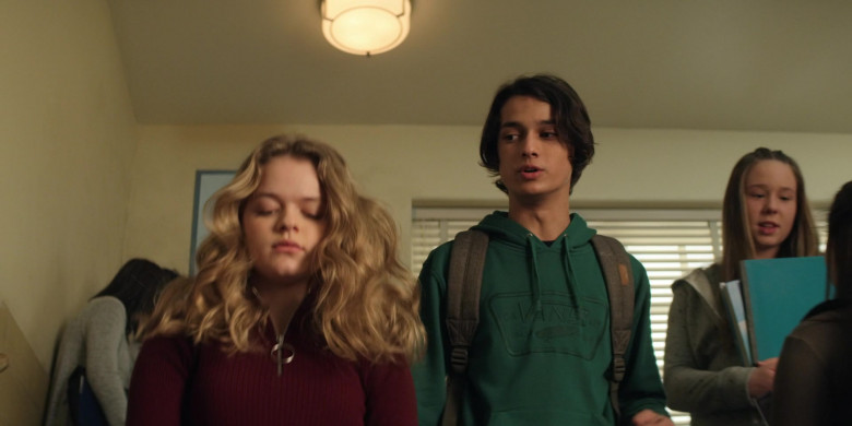 Vans Green Hoodie Worn by Rio Mangini as Ethan in Home Before Dark S01E03 (1)