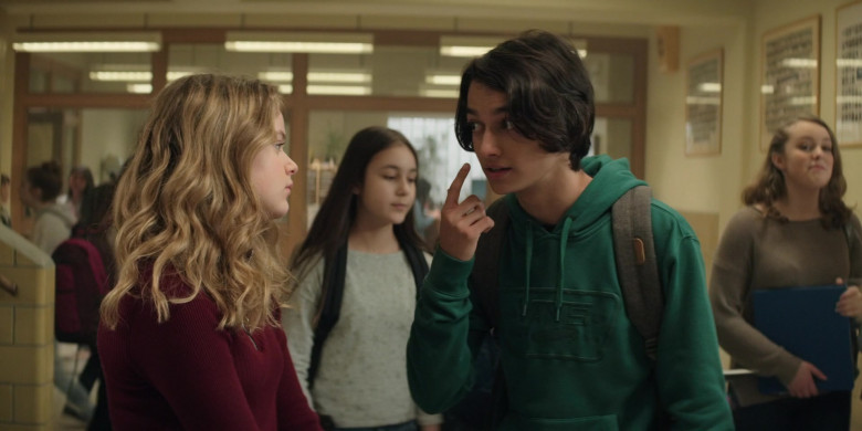 Vans Green Hoodie Worn by Rio Mangini as Ethan in Home Before Dark S01E03 (2)