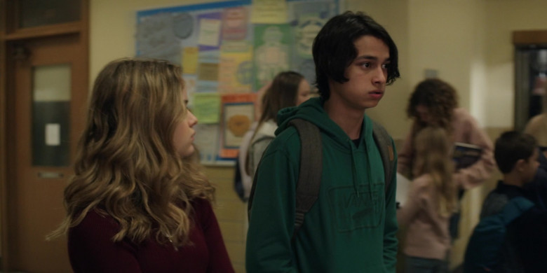 Vans Green Hoodie Worn by Rio Mangini as Ethan in Home Before Dark S01E03 (3)