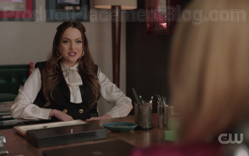 Versace Dress of Elizabeth Gillies in Dynasty S03E18