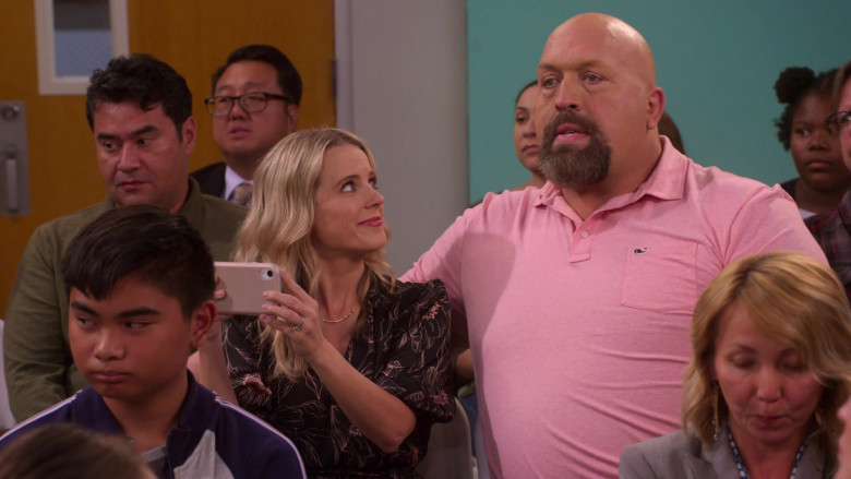 Vineyard Vines Pink Polo Shirt of Paul Wight in The Big Show Show S01E07 (1)