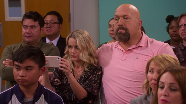 Vineyard Vines Pink Polo Shirt of Paul Wight in The Big Show Show S01E07 (2)