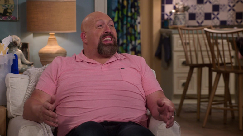 Vineyard Vines Pink Polo Shirt of Paul Wight in The Big Show Show S01E07 (3)