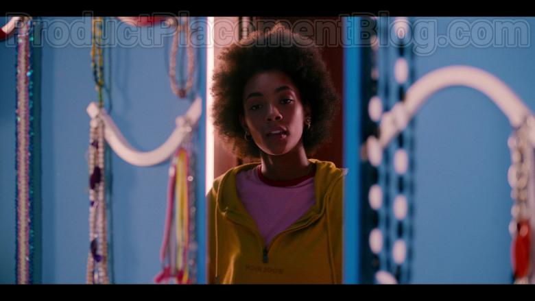 Woolrich Women's Hoodie (Yellow) Worn by Rebecca Coco Edogamhe in Summertime (Netflix TV Show)