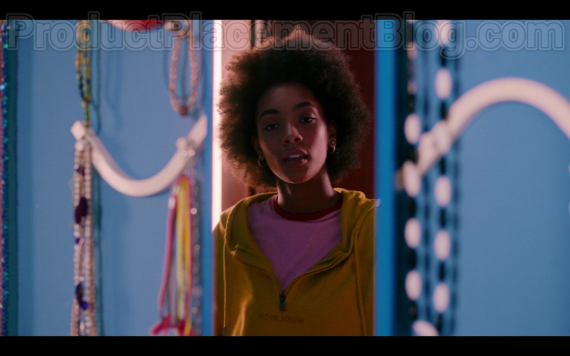 Woolrich Women's Hoodie (Yellow) Worn by Rebecca Coco Edogamhe in Summertime (Netflix TV Show)