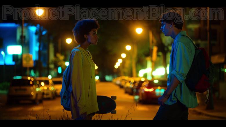 Woolrich Yellow Hoodie of Rebecca Coco Edogamhe in Summertime S01E01 I Hate Summer (3)