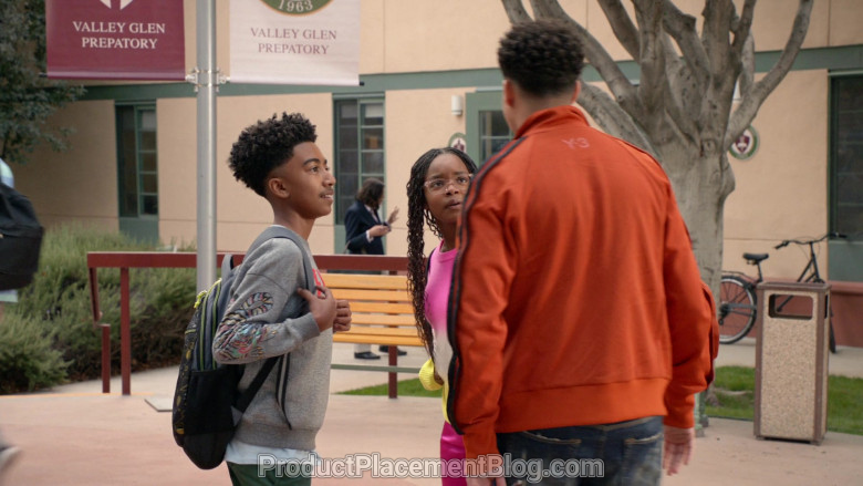 Y-3 Men's Orange Jacket of Marcus Scribner in Black-ish S06E21 (2)