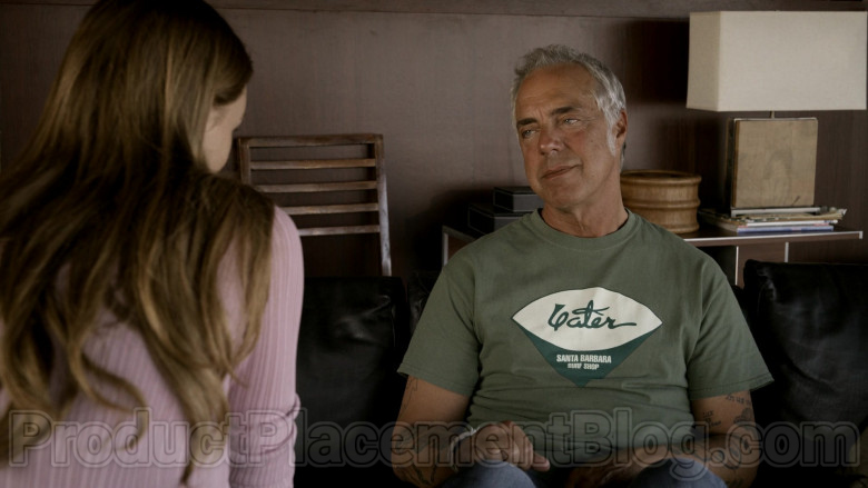 Yater Santa Barbara Surf Shop Logo Green T-Shirt of Titus Welliver in Bosch S06E03 (2)