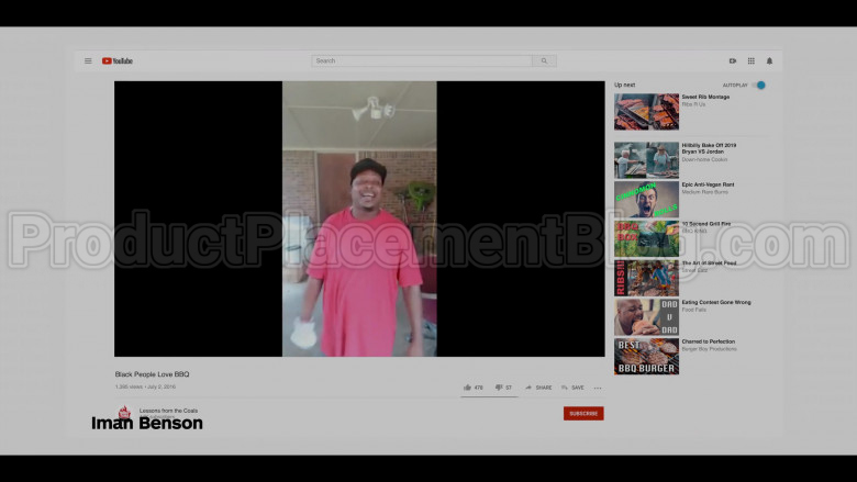 Youtube Site in #blackAF S01E03 still…because of slavery (2020)