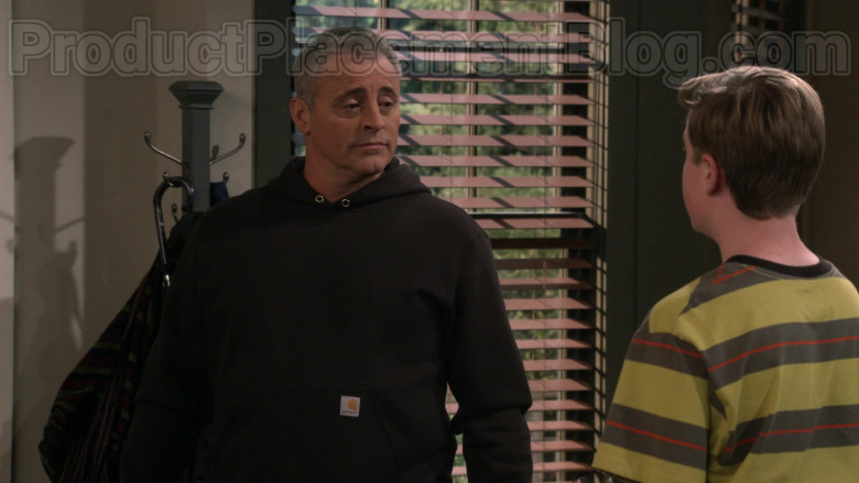 Actor Matt LeBlanc Wearing Carhartt Hoodie Outfit in Man with a Plan S04E10 TV Series (1)